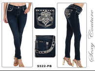 Sexy Couture - Skinny Leg Women's Dark Blue Jean
