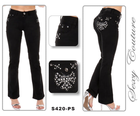$49 Sexy Couture Boot Cut - Black