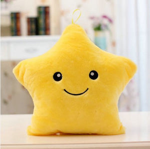 COLORFUL GLOWING STAR PILLOW