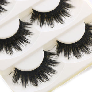 5 Pairs Soft Thick False Eyelashes (Fullest Look)