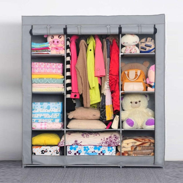 Wardrobe Closet For Clothes, Blanket Storage Etc