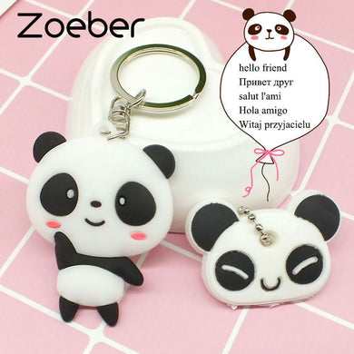 Zoeber Cute Panda Keychain and Key Cover Various Animals
