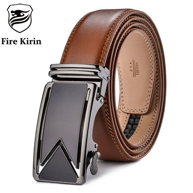 Gentlemens Belt Made With Genuine Leather Automatic Buckle