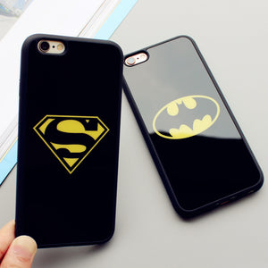 Luxury Mirror Superman Batman Case For Iphone 7 Plus