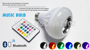 SMART BLUETOOTH SPEAKER LIGHTBULB. DIMMABLE LED E27 FITMENT
