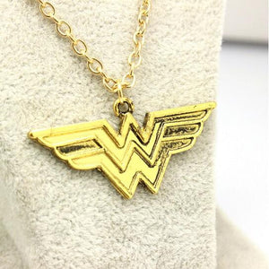 Superhero Justice League Wonder Woman Statement Necklace