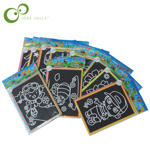 6pcs Child Kids Magic Scratch Art Doodle Pad