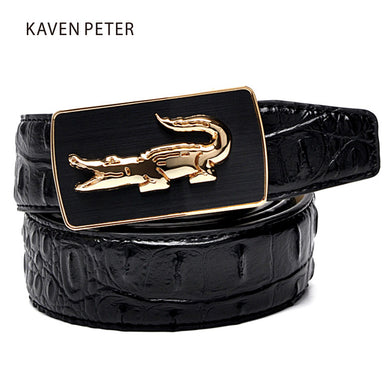 Crocodile Belt Fashion Luxury Alligator Automatic Buckle
