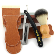 Gold Dollar Straight Shaving Razor Set Leather Sharpening Strop Whetstone