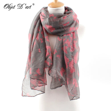 Women Butterfly Print Soft Long Scarf