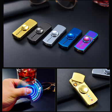Multi-colorful Fidget Spinner LED Flash Light rechargeable hand spinner with Box For Adult Best Gift