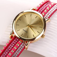 Elegant Quartz Multilayer Rivets  Watch Women Rhinestone