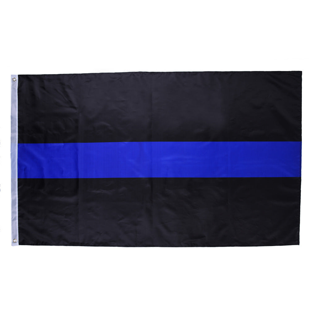90x150cm 3x5FT Thin Blue Line United State Police Flags