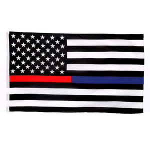 Thin Red Blue Line US American Flags Home Decorations Polyester 90x150cm