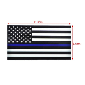 Police Officer Thin Blue Line American Flag Vinyl Decal Car Sticker