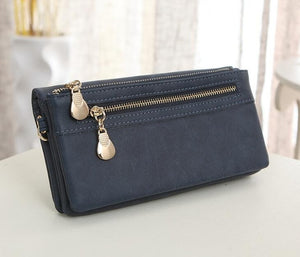 Women Wallet Elegant Dull Polish Leather Wallets