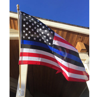 Thin Blue Line American Flag Police Lives 3x5