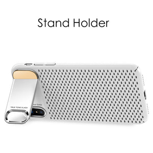 Heat Dissipation Phone Cases for iphone X With Holder Stand