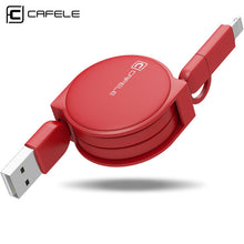 1M 2 in 1 USB Cable Fast Charging For iphone, Samsung, Xiaomi
