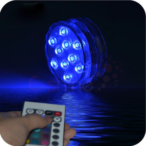 Submersible LED Underwater Light 10leds Battery Operated
