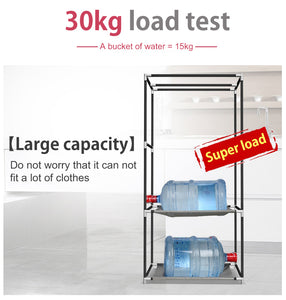 Dormitory single wardrobe Non-woven Steel frame reinforcement Standing Storage Organizer