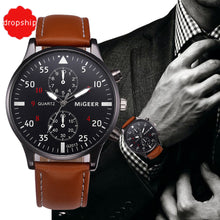 Retro Design Leather Band Watch