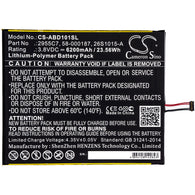 Premium 6200mAh Cameron Sino Battery for Amazon Kindle Fire HD10.1, Kindle Fire HD 10.1 7th, SL056ZE; P/N: 26S1015-A, 2955C7, 58-000187, 58-000280