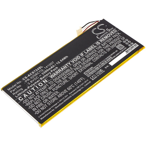 Acer A1-734,Iconia Talk S; P/N:141007,KT.0010N.001,PR-3258C7G Battery