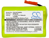 Cameron Sino Replacement Battery for Fluke FiberInspector Mini, FT500 (700mAh)