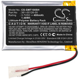 New Replacement 400mAh Battery for Garmin 010-02357-00,Fenix 6X,Tactix Delta; P/N:361-00126-00