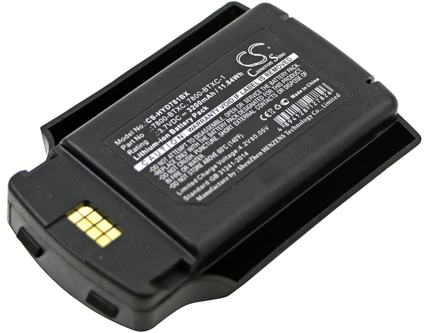 2600mAh / 28.86Wh Replacement battery for Honeywell MX9380, MX9381, MX9382