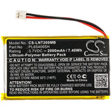 New 2000mAh Battery for Luvion  Prestige Touch 2; P/N: PL654065H