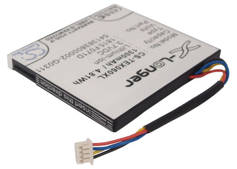 1300mAh Battery for Texas Instruments TI-Nspire CX, TI-Nspire CX CAS,  N2/AC/2L1/A and others