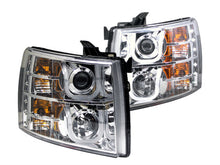 Load image into Gallery viewer, ANZO 2007-2013 Chevrolet Silverado 1500 Projector Headlights w/ U-Bar Chrome