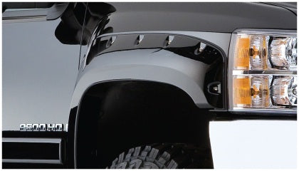 Bushwacker 07-14 Chevy Silverado 2500 HD Cutout Style Flares 2pc - Black