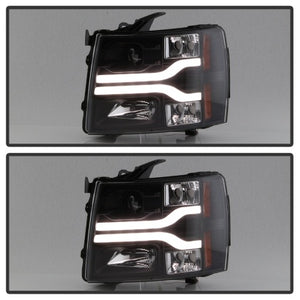 Daytime Running Lights LED Projector Headlights for 2007 - 2014 Chevrolet 1500/2500/3500