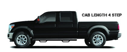 N-Fab Nerf Step 11-14 Chevy-GMC 2500/3500 Crew Cab - Tex. Black - Cab Length - 3in