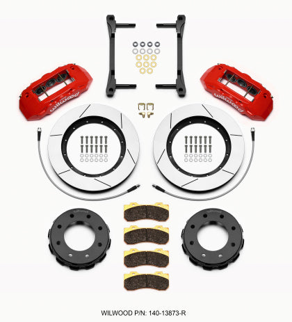 Wilwood TX6R Front Kit 15.00in Red 2011-2015 GM Truck/SUV 2500