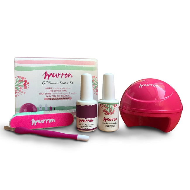 Peel Off Gel Manicure Starter Kit - Sexy Maroon