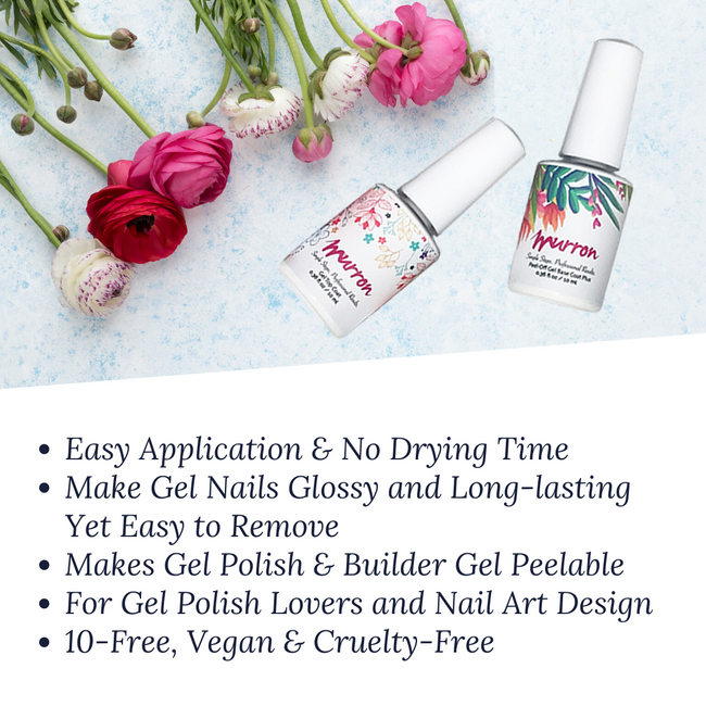 No Wipe Gel Top Coat & Peel Off Gel Base Coat Plus