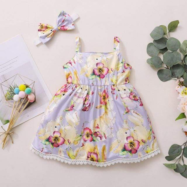 """Easter Girl"" Bunny-Themed Dress - The Palm Beach Baby"