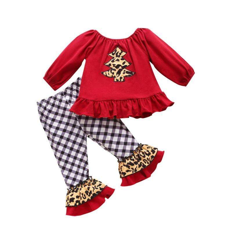 "2 PC ""Santa Gal"" Retro Pant Set - The Palm Beach Baby"