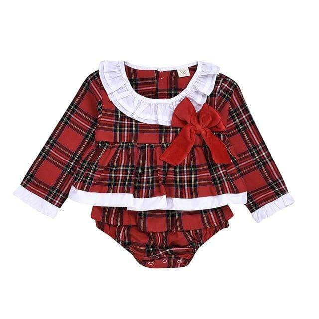 """Chrissy"" Plaid Dress With Bloomers - The Palm Beach Baby"