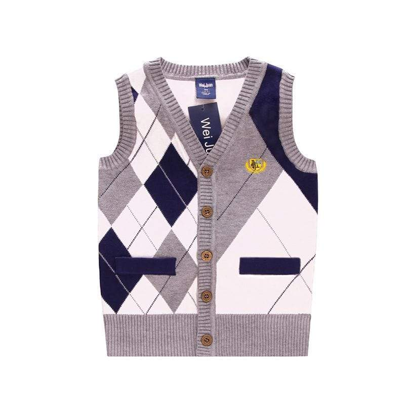 Boys Argyle Classic Sweater Vest - The Palm Beach Baby