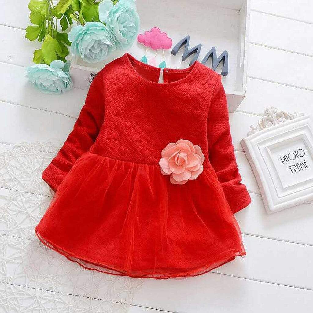 """Grace"" Red Party Dress - The Palm Beach Baby"