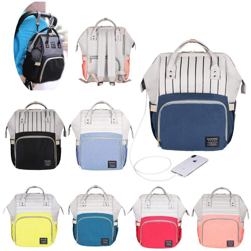 Baby Accessories Large Capacity Mommy Diaper Backpack -The Palm Beach Baby