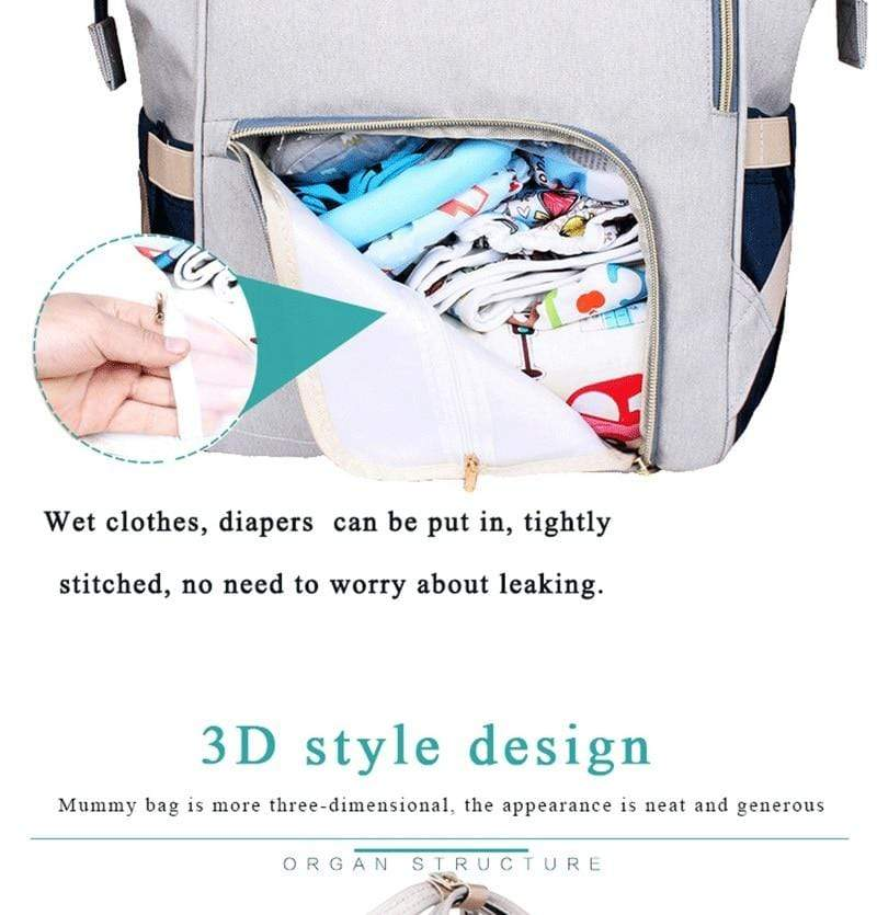 Large Capacity Mommy Diaper Backpack - The Palm Beach Baby
