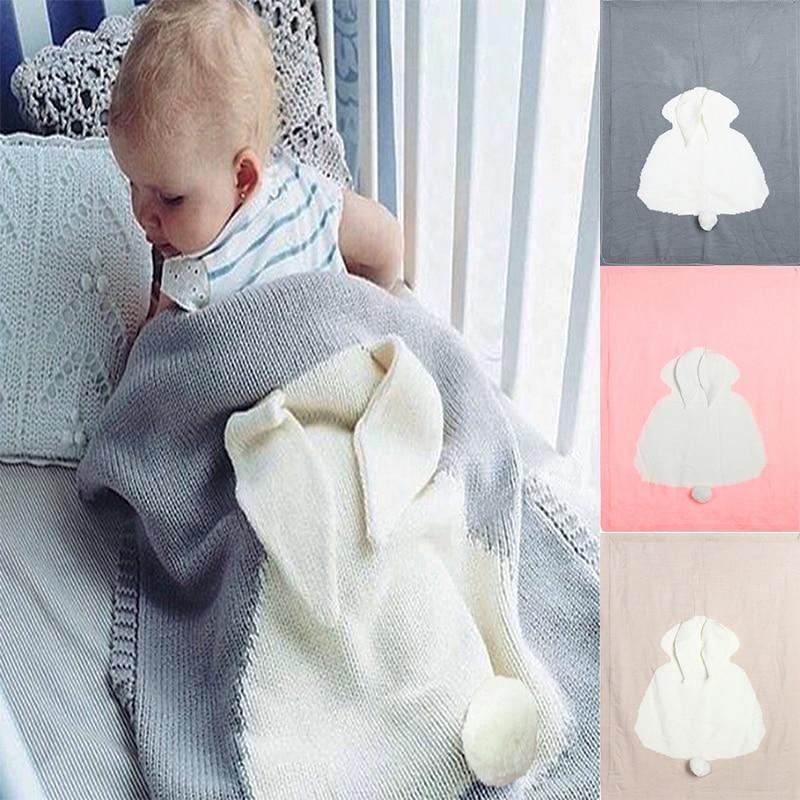 Adorable Children's Bunny Knit Blanket - The Palm Beach Baby