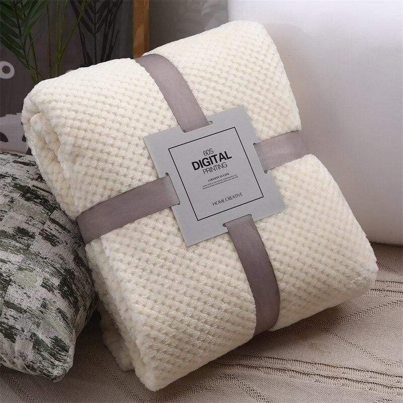 Thick Bamboo Fiber Fleece Blanket - The Palm Beach Baby