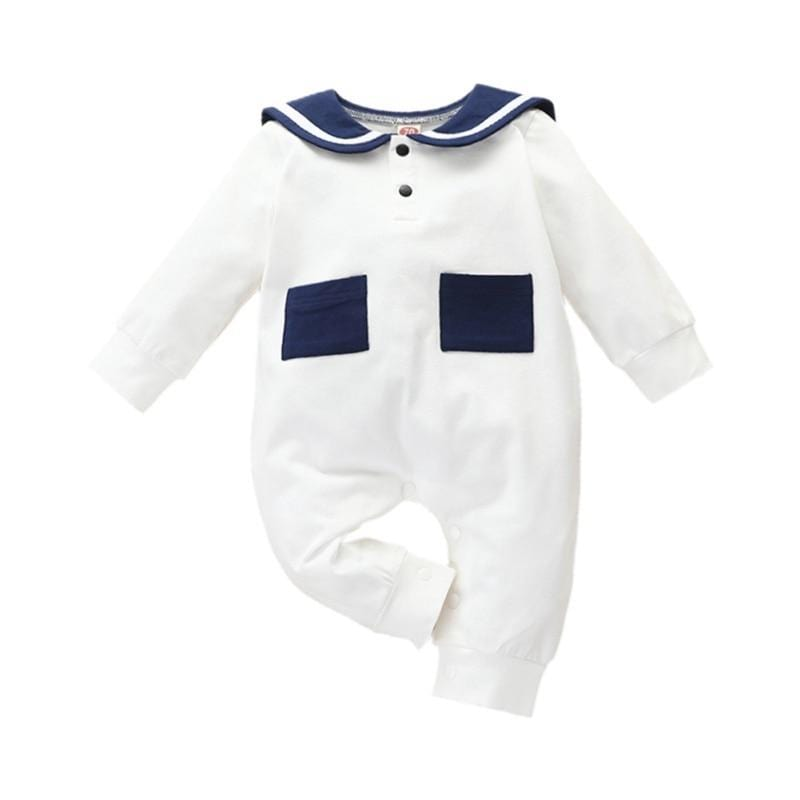 """Aiden"" Nautical Inspired Romper - The Palm Beach Baby"